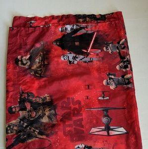 Star Wars Twin Flat Sheet The Force Awakens Red